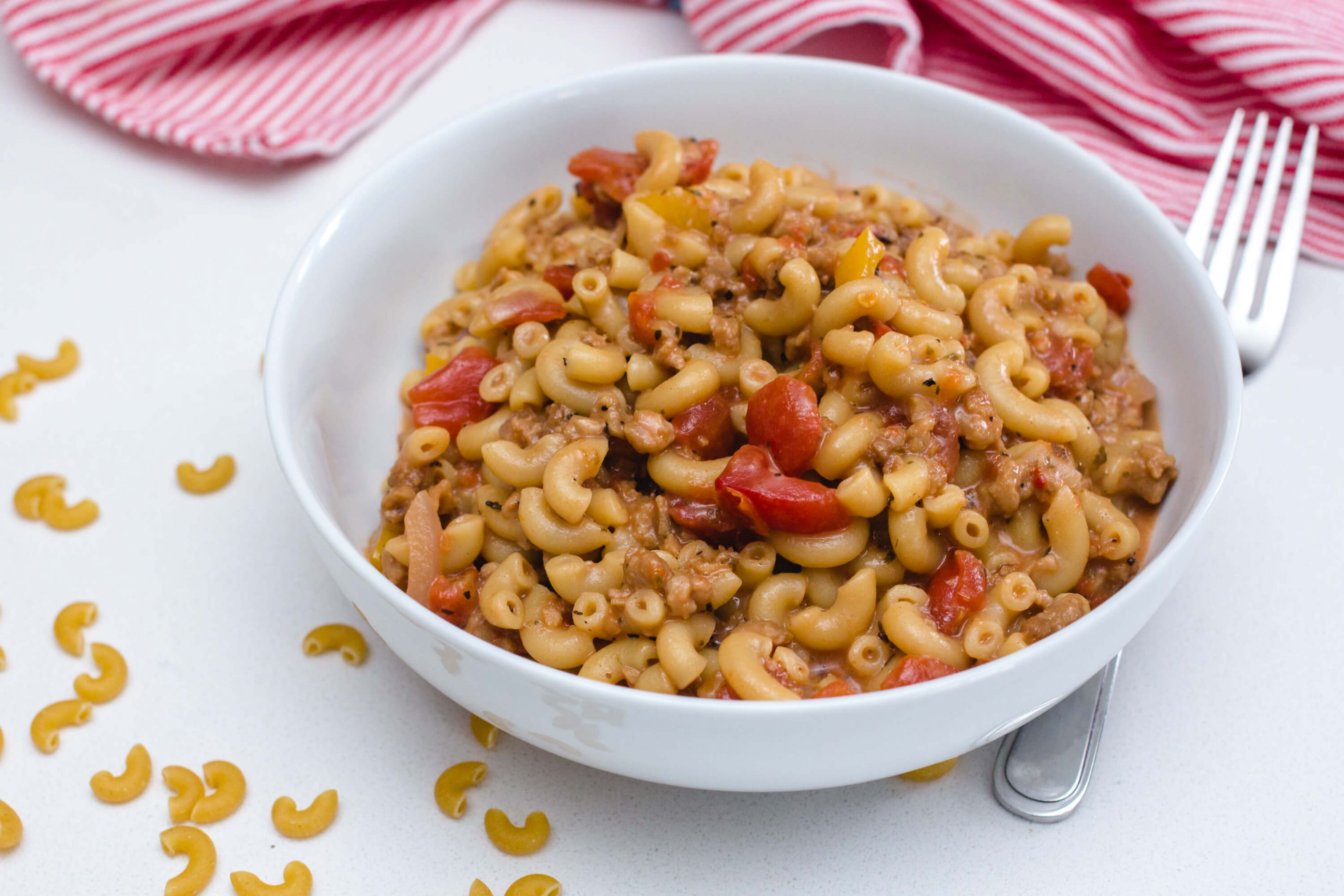 No Meat Macaroni - Pasta Recipes No Meat