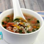 Nourishing Barley Soup (Diabetic and Cholesterol Friendly) by Tarla Dalal