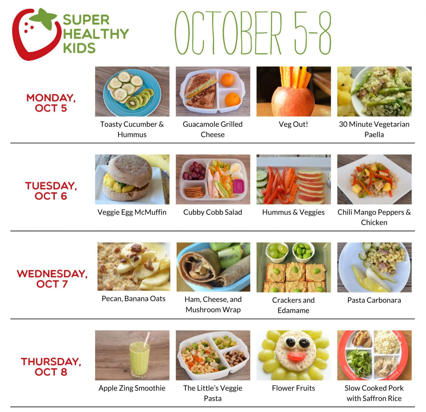 October 12-12 | Super Healthy Kids | Meal plan for toddlers, Easy ..
