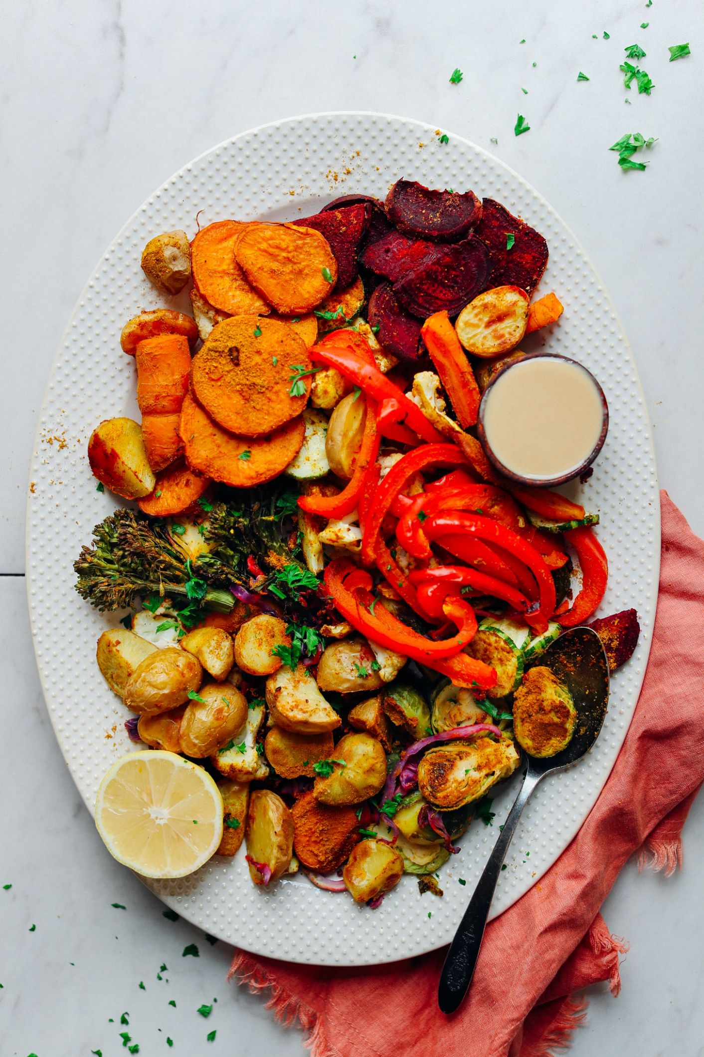 Oil-Free Roasted Vegetables - Healthy Recipes Vegetables