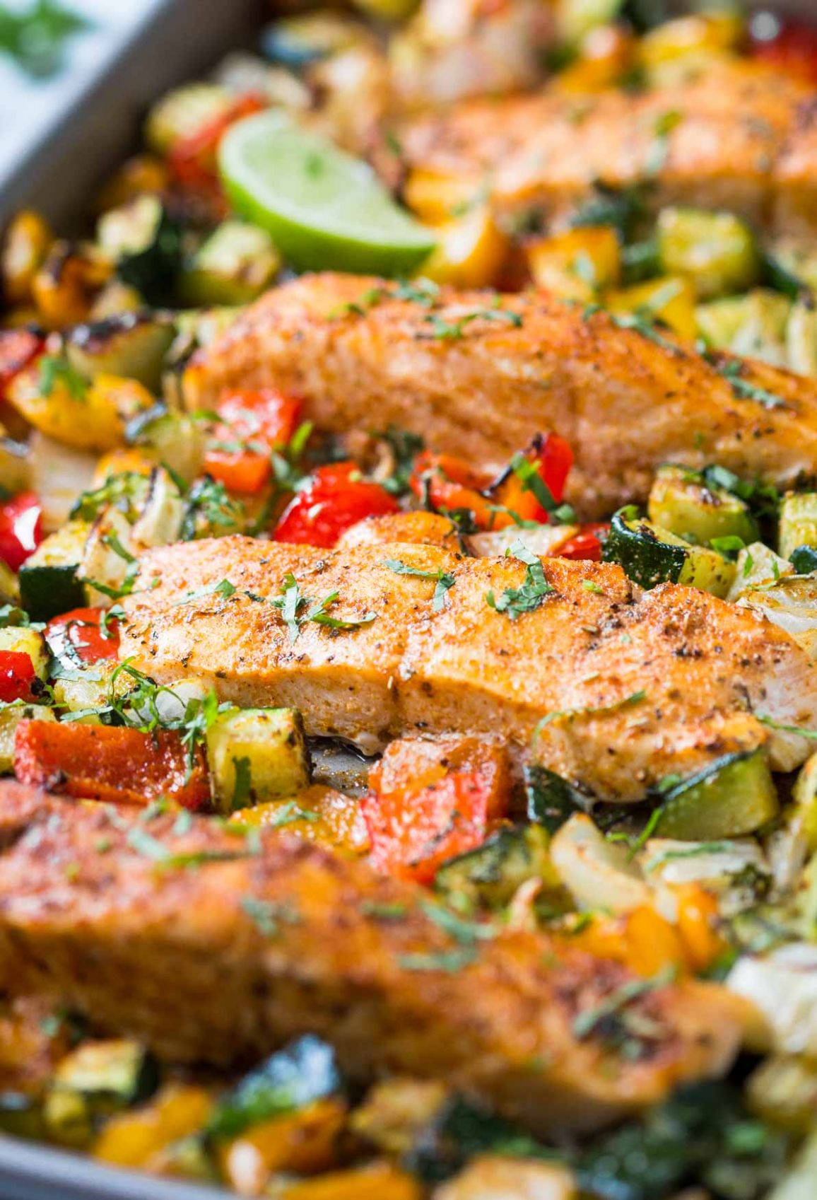 One Pan Baked Salmon And Vegetables - Healthy Recipes Vegetables
