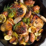 One Pan Chicken, Sausage, And Brussels Sprouts Recipe – Recipes Chicken Sausage