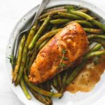 One Pan Creamy Balsamic Chicken & Green Beans | Creme De La Crumb – Recipe Chicken Breast Green Beans