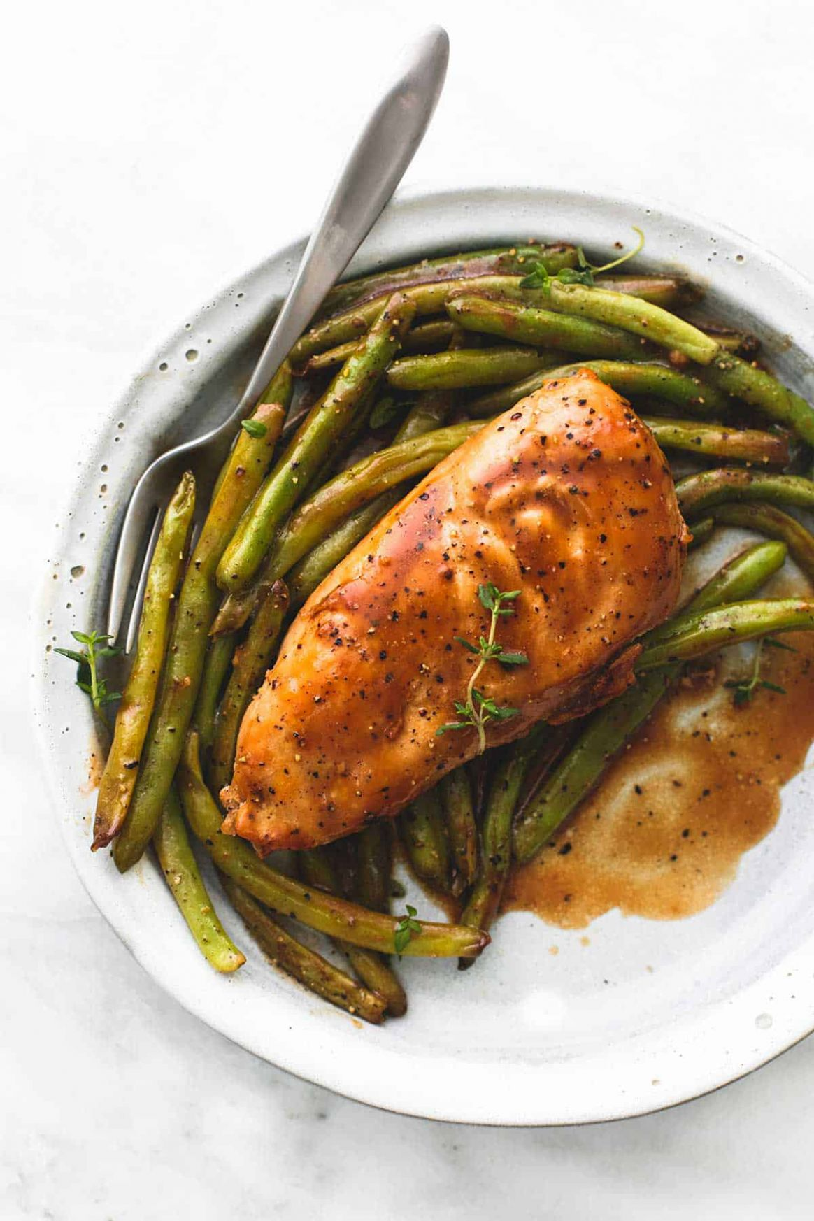 One Pan Creamy Balsamic Chicken & Green Beans | Creme De La Crumb - Recipe Chicken Breast Green Beans