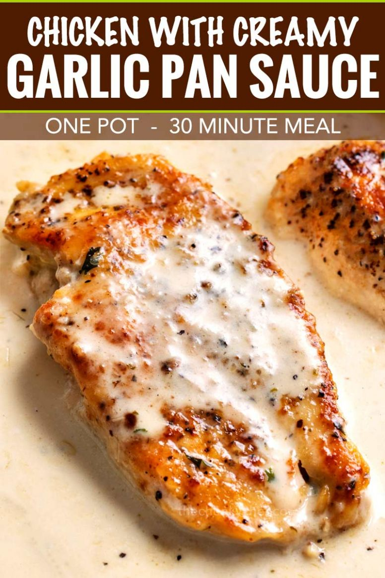 One Pan Creamy Garlic Chicken Breasts - Recipes With Chicken Breast For One
