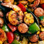 One Pan Garlic Herb Shrimp And Sausage | Chelsea's Messy Apron – Recipes Using Summer Sausage And Potatoes