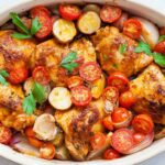 One-Pan Paprika Chicken with Potatoes and Tomatoes