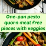 One Pan Pesto Quorn Meat Free Pieces With Veggies A Light ..