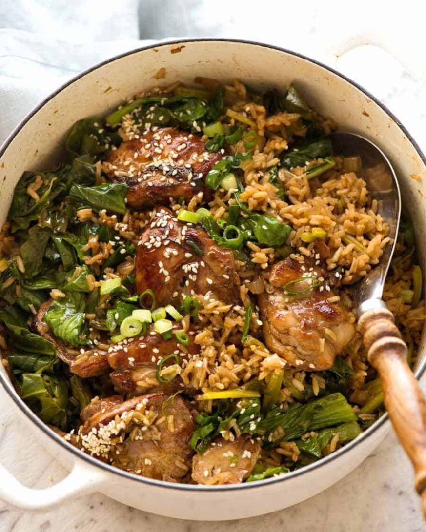 One Pot Chinese Chicken and Rice - Rice Recipes One Pot