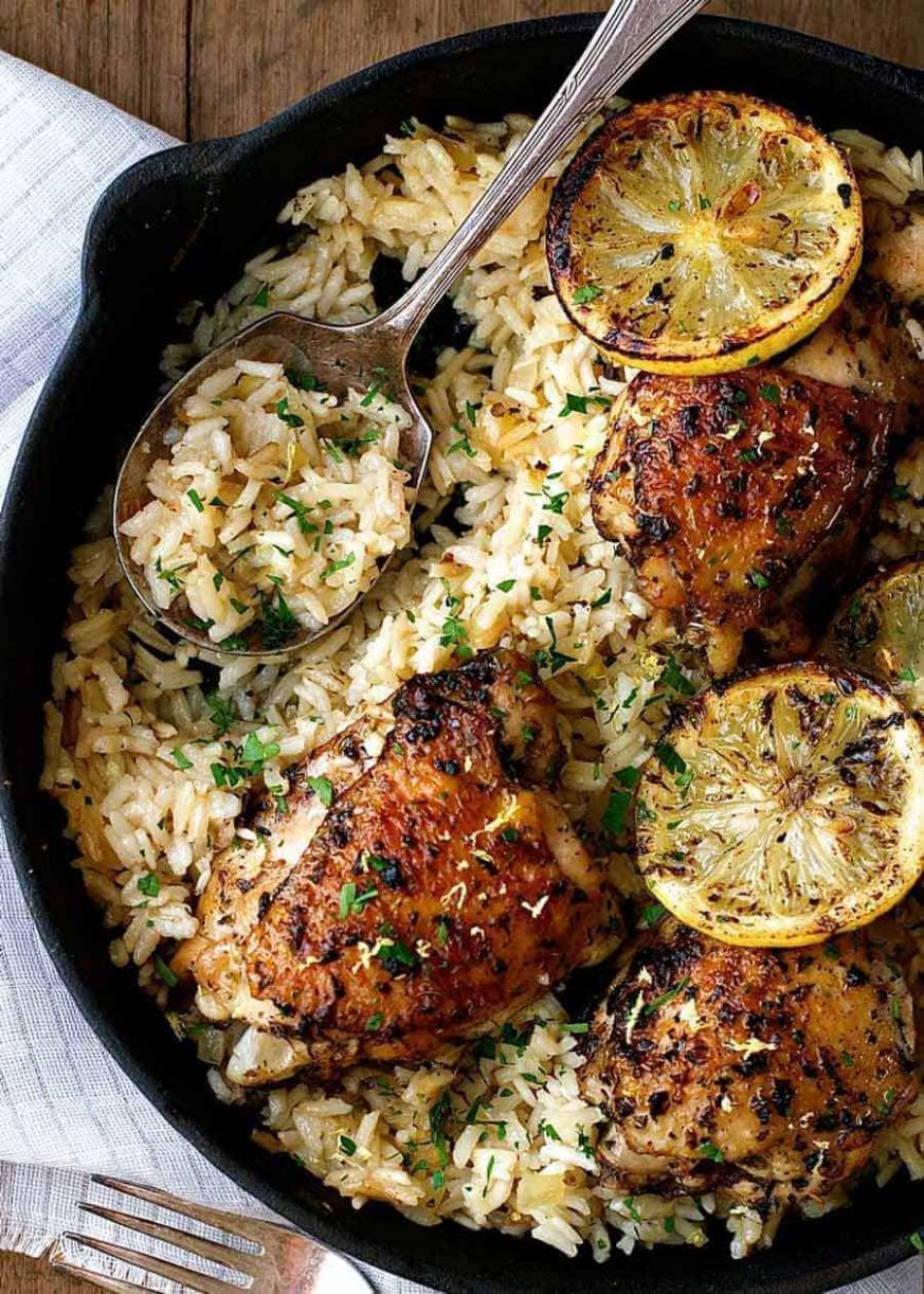 One Pot Greek Chicken and Lemon Rice - Recipe Chicken Breast One Pot