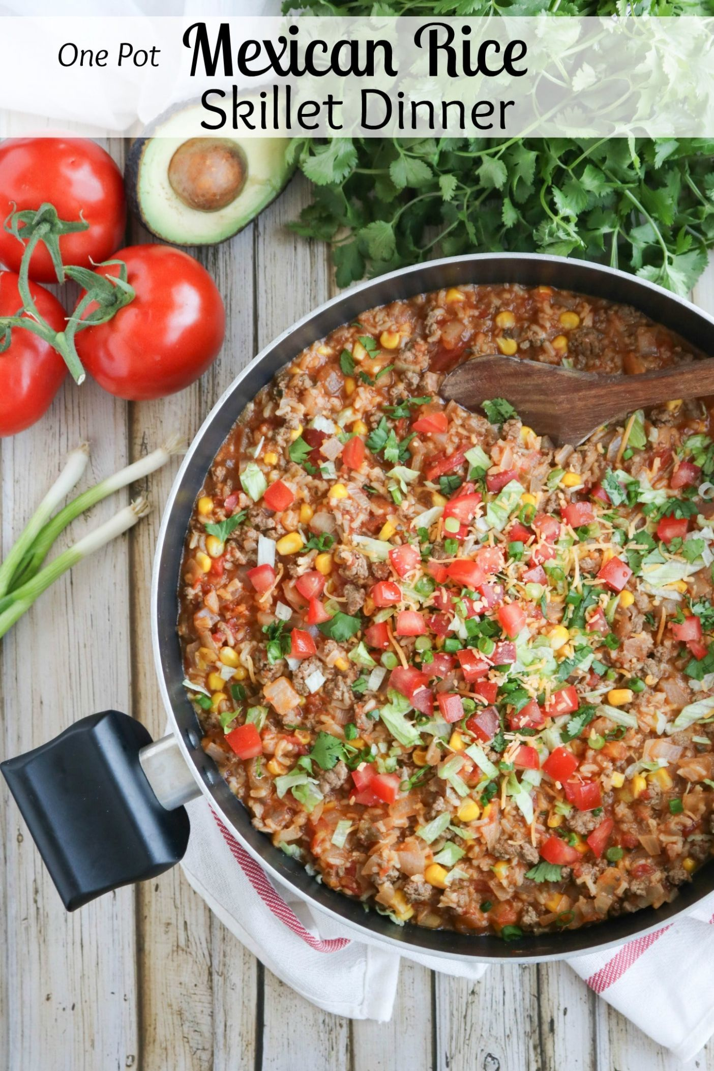 One-Pot Mexican Rice Skillet Dinner - Dinner Recipes One Pot