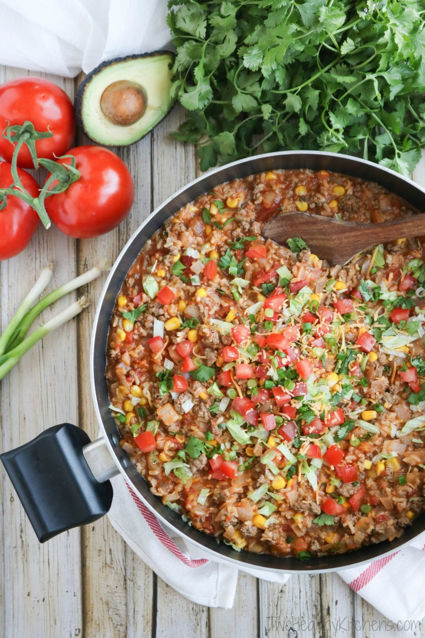 One-Pot Mexican Rice Skillet Dinner - Easy Recipes Mexican