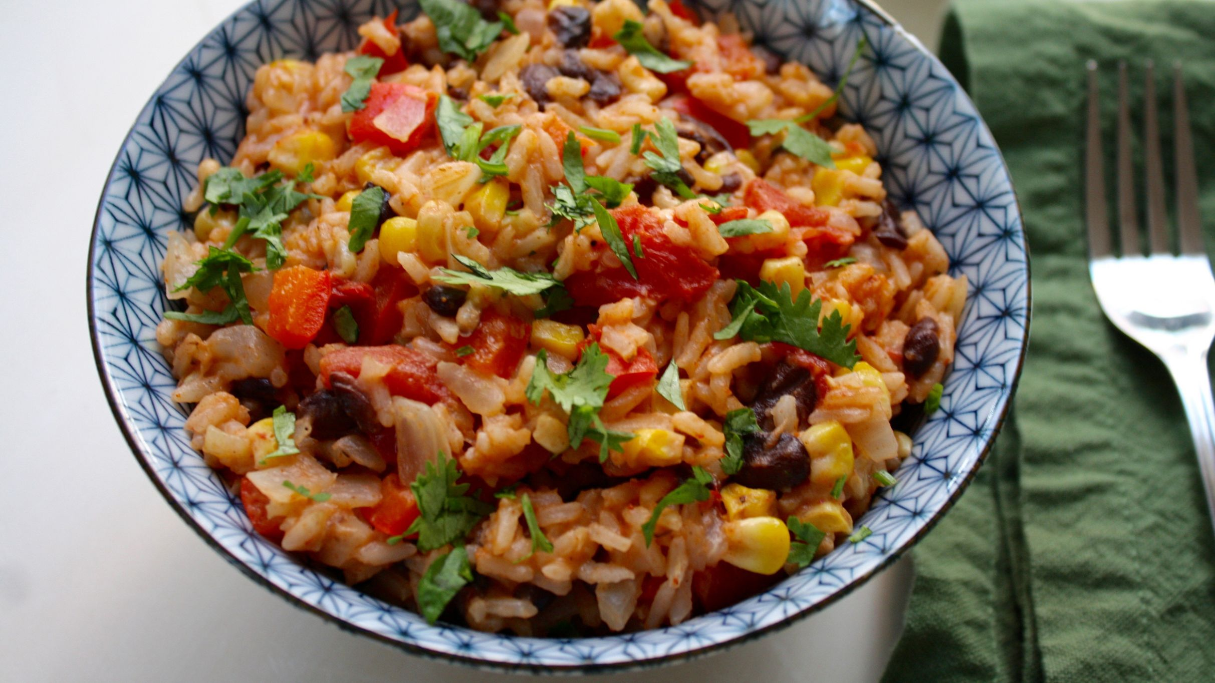One-Pot Mexican Rice with Black Beans and Corn