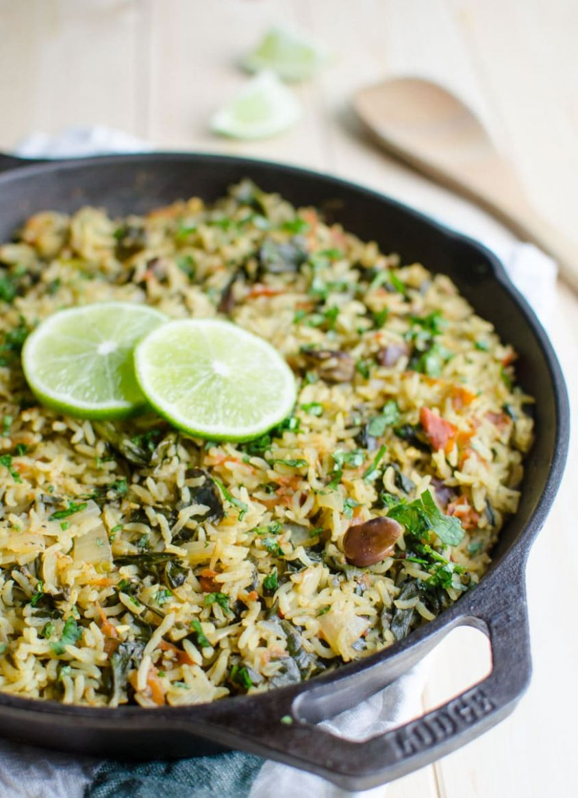 One Pot Spinach Rice - Rice Recipes One Pot
