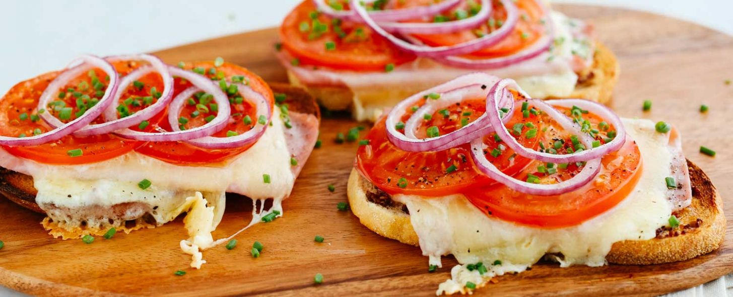 Open-Faced Grilled Ham and Cheese Sandwich - Sandwich Recipes And Procedures