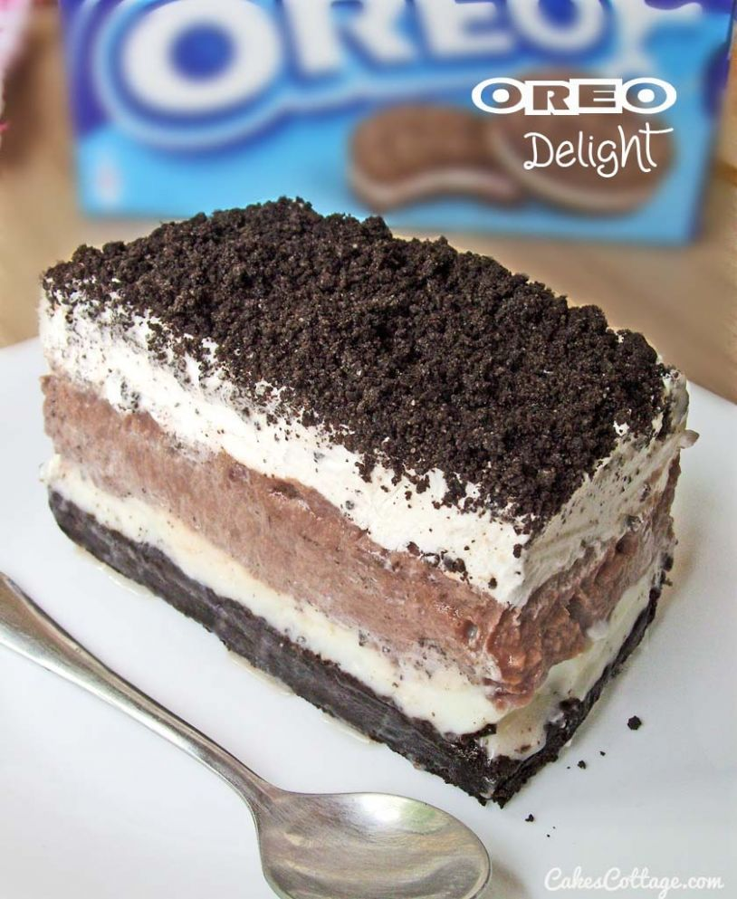 Oreo Delight with Chocolate Pudding - Recipes Chocolate Delight