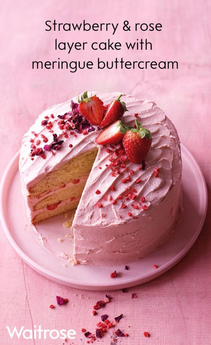 Our summery cake has a double dose of fresh strawberries, in both ..