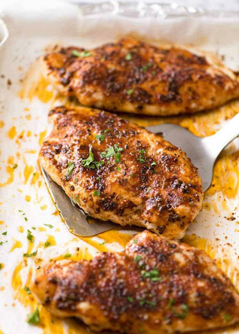 Oven Baked Chicken Breast - Easy Recipes With Chicken Breast