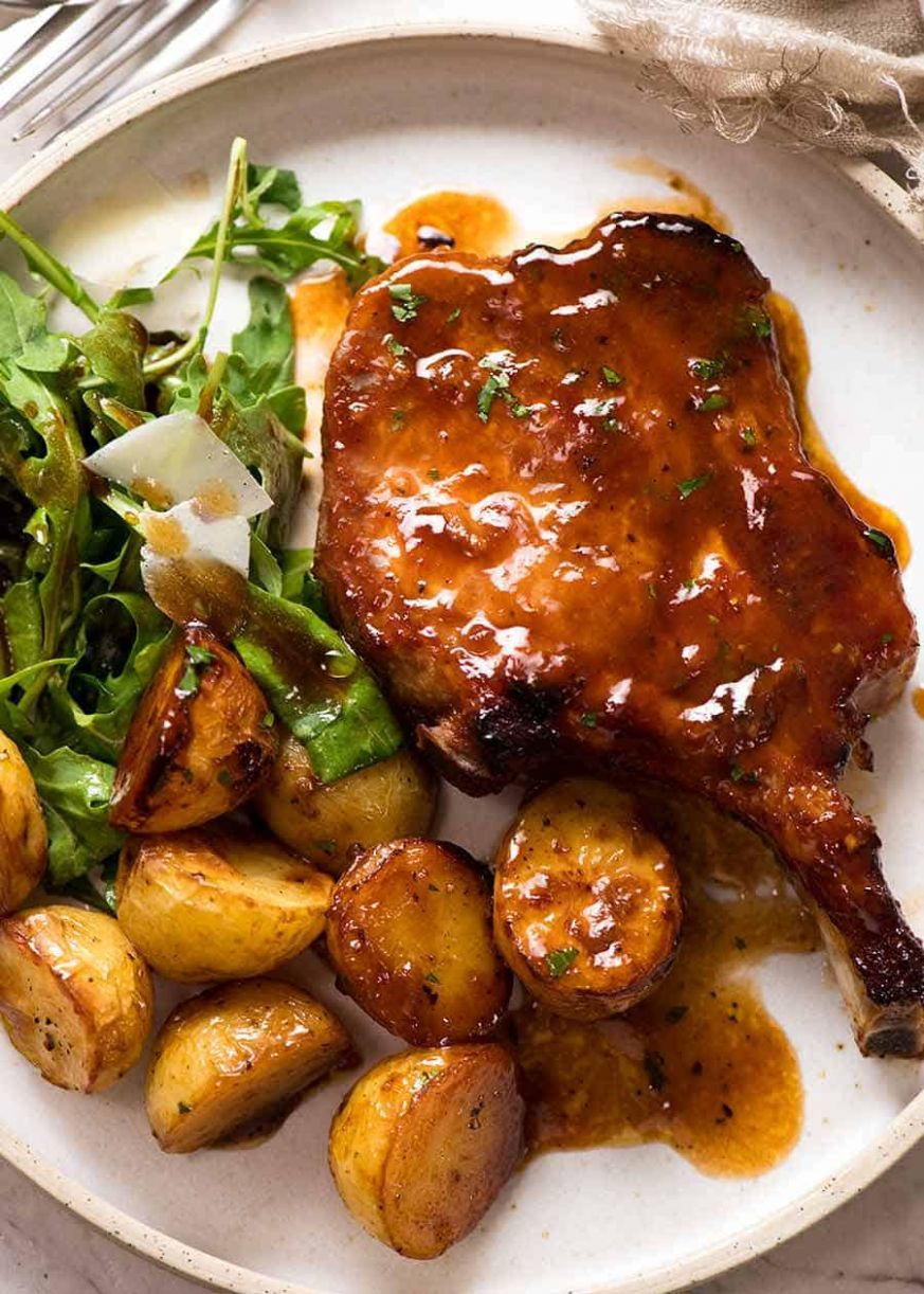 Oven Baked Pork Chops with Potatoes - Recipes Pork Chops Bone In