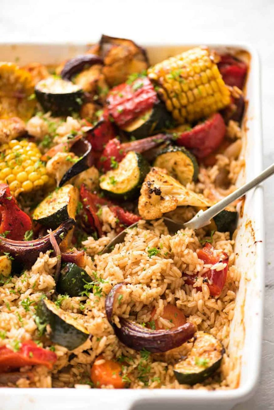 Oven Baked Rice and Vegetables - Rice Recipes Oven