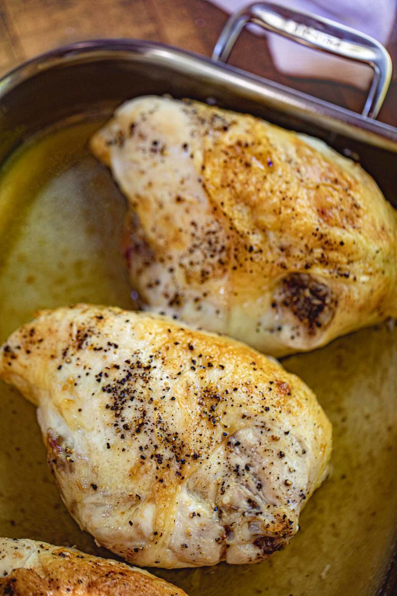 Oven Baked Split Chicken Breasts (Bone-In) - Dinner, then Dessert - Recipes Chicken Breast With Skin On