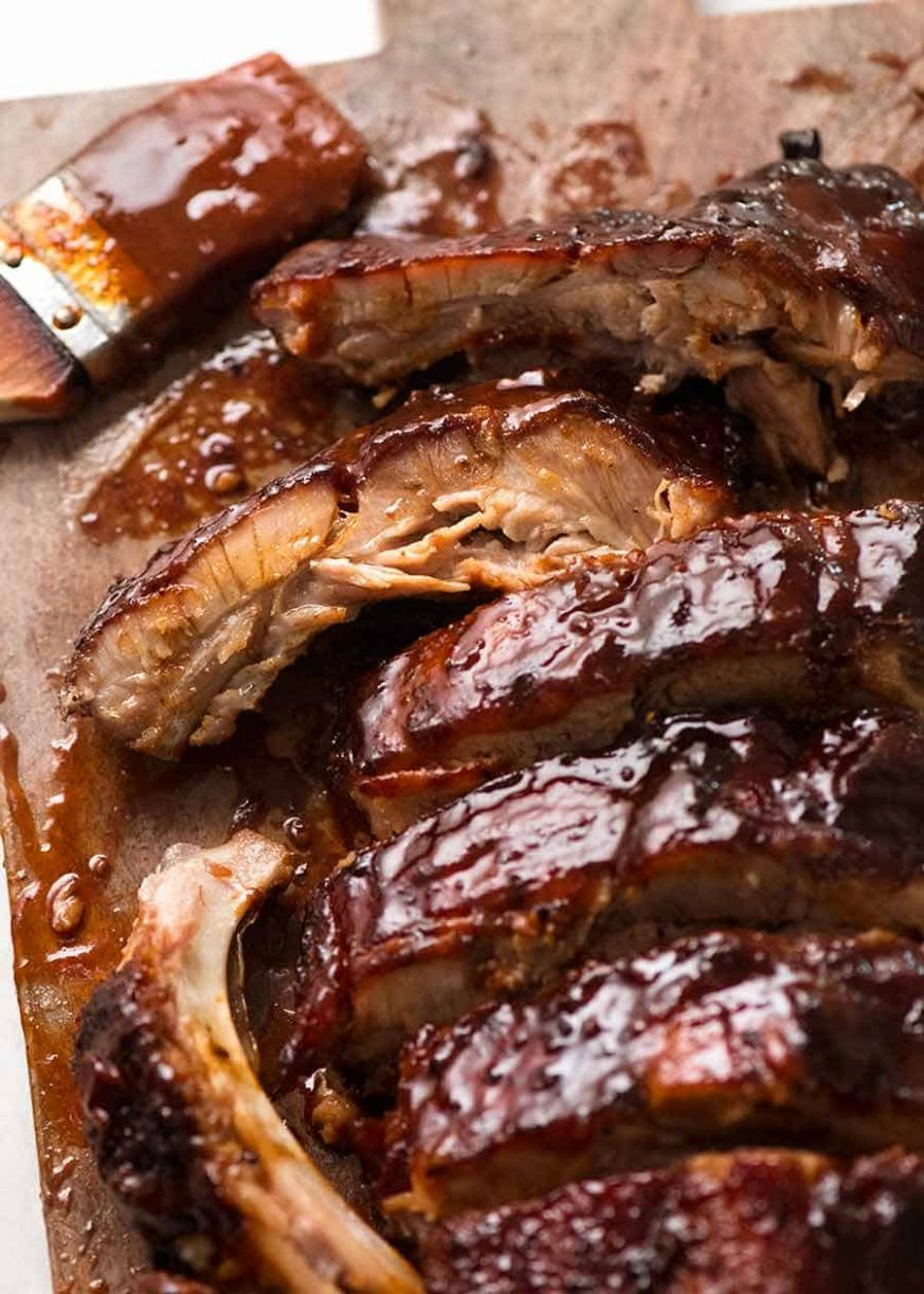 Oven Pork Ribs with Barbecue Sauce - Recipes Pork Spare Ribs