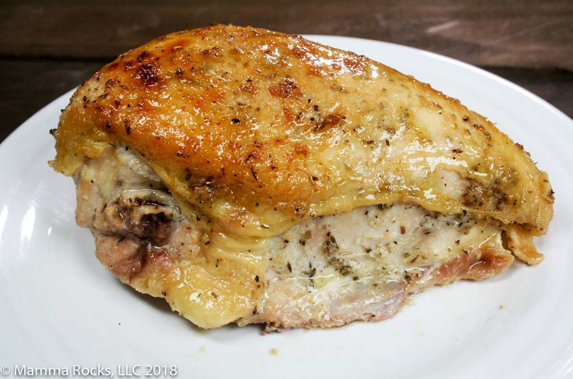Oven Roasted Rosemary and Thyme Chicken Breast on the Bone Recipe - Recipes Chicken Breast On The Bone
