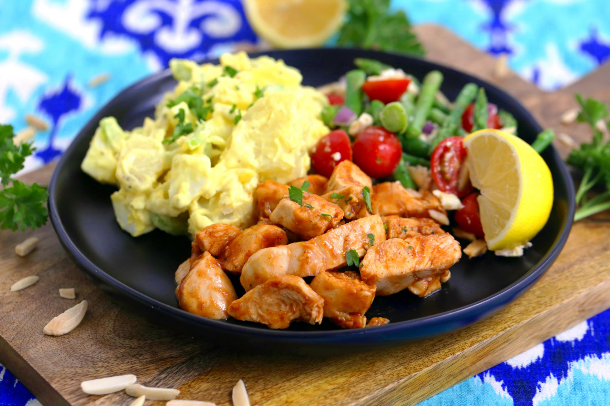 Pan Grilled BBQ Chicken for Cold BBQ Salad Bowls | Mind Over Munch - Recipe Chicken Breast Grill Pan