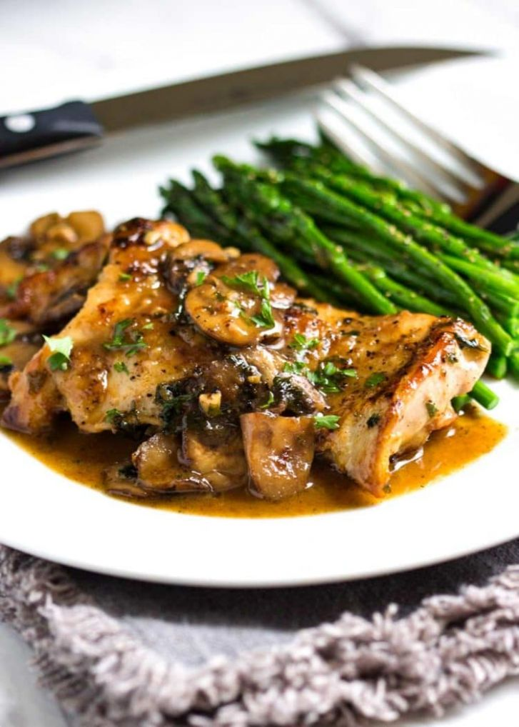 Pan Seared Chicken with Mushrooms - Recipes Chicken With Mushrooms