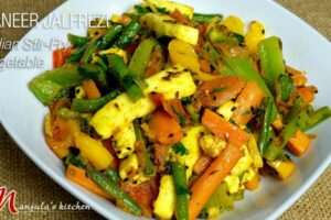 Paneer Jalfrezi (Indian Stir-Fry Vegetables) by Manjula