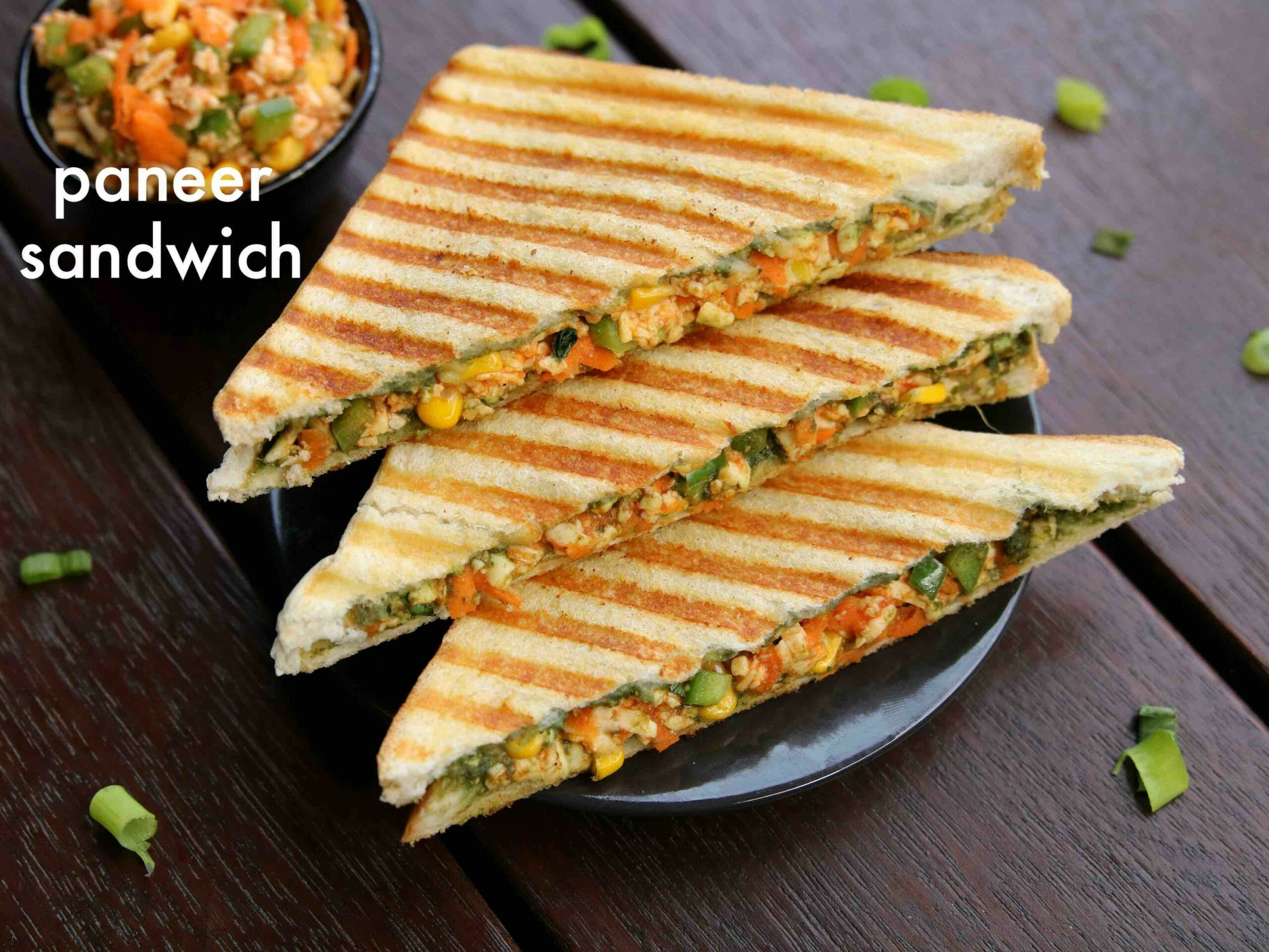 paneer sandwich recipe | how to make grilled paneer sandwich recipe - Sandwich Recipes Vegetarian Indian