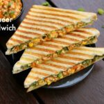 paneer sandwich recipe | how to make grilled paneer sandwich recipe