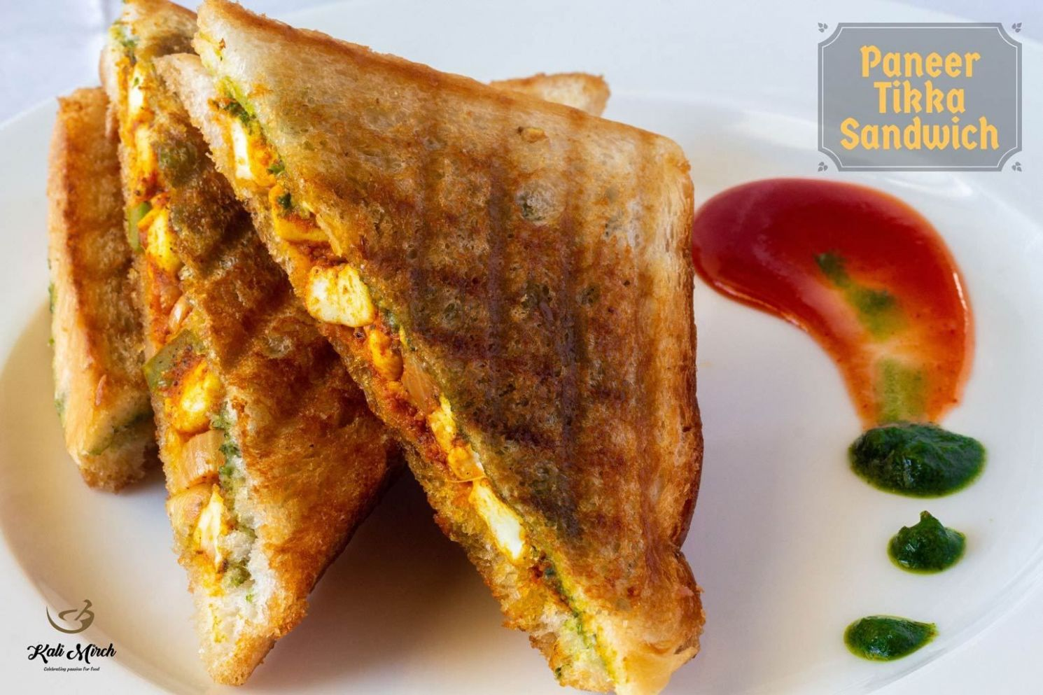 Paneer Tikka Grilled Sandwich - Sandwich Recipes In Marathi