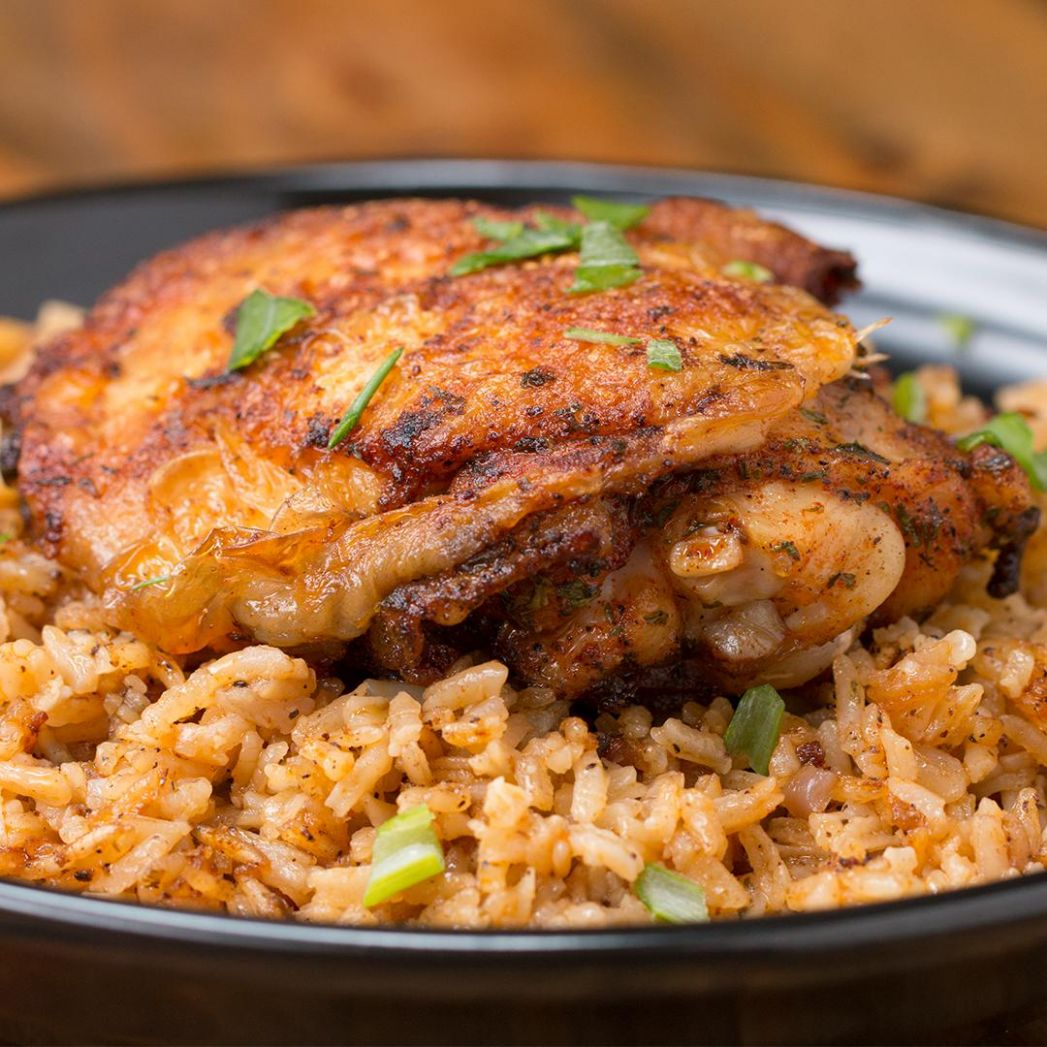 Paprika Chicken & Rice Bake Recipe by Tasty