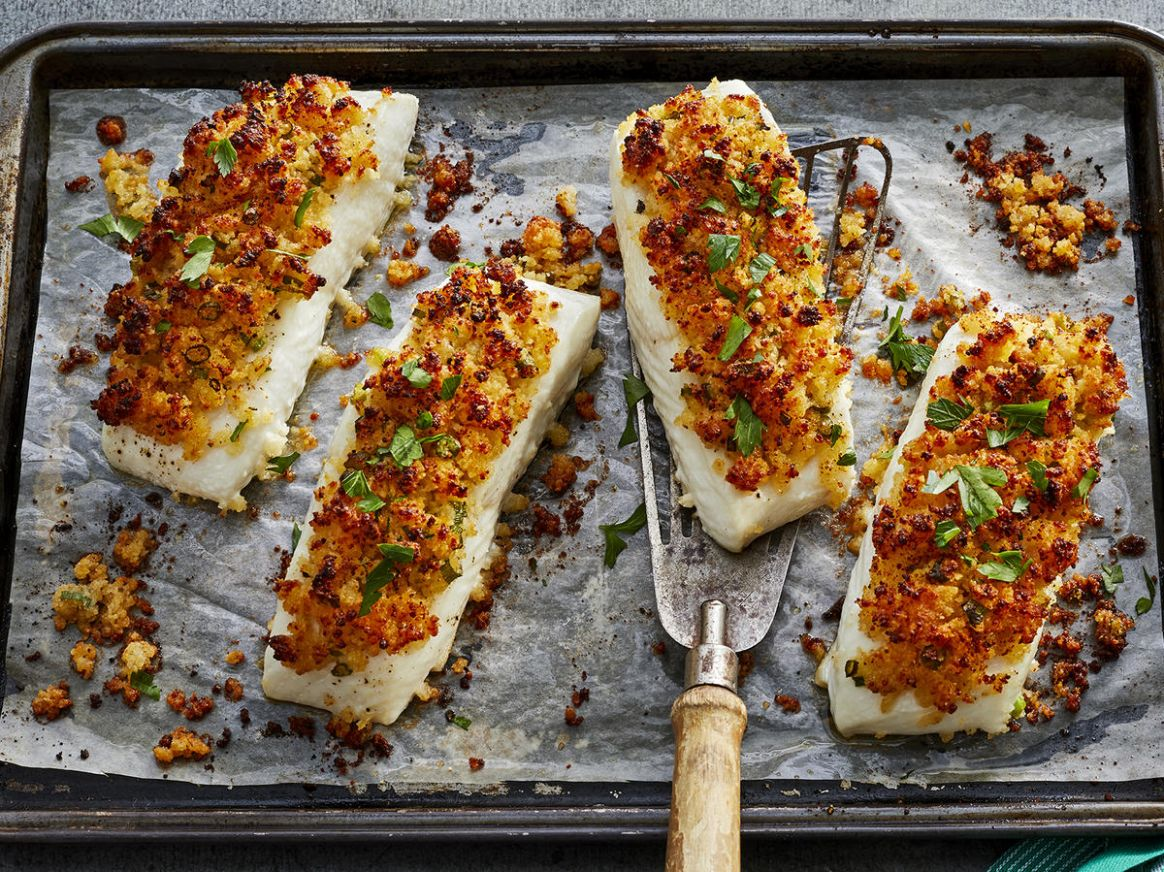 Parmesan Crusted Baked Fish - Fish Recipes Quick And Easy