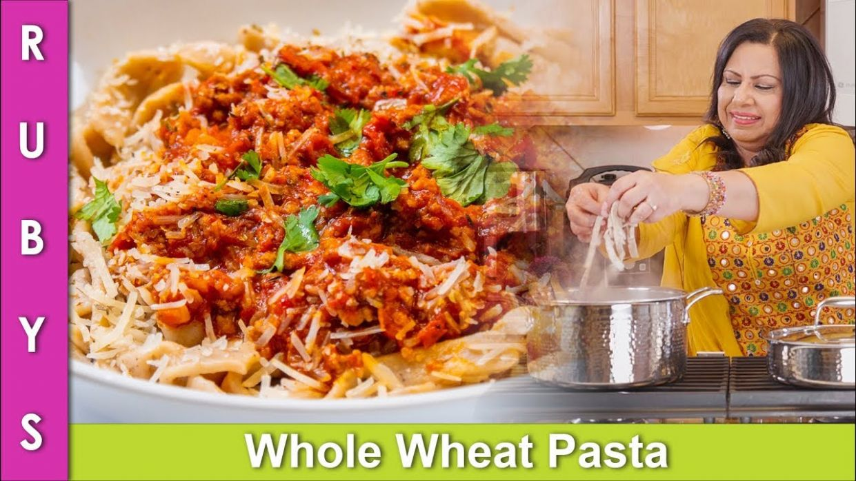 Pasta Ghar Kay Aate Wala Asan Mazedar Wheat Pasta and Meat Sauce Recipe in  Urdu Hindi RKK - Recipes In Urdu Wheat