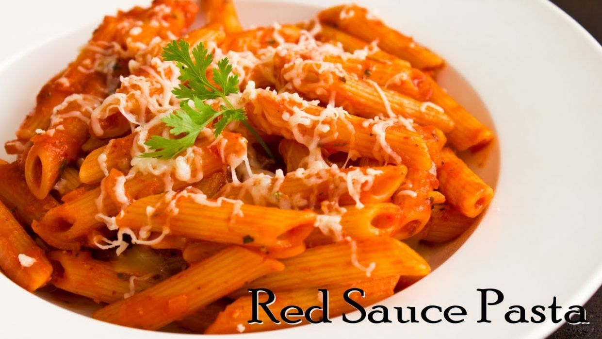 Pasta in Red Sauce | Red Sauce Pasta | Indian Style Tomato Pasta ~ The  Terrace Kitchen - Pasta Recipes Red Sauce