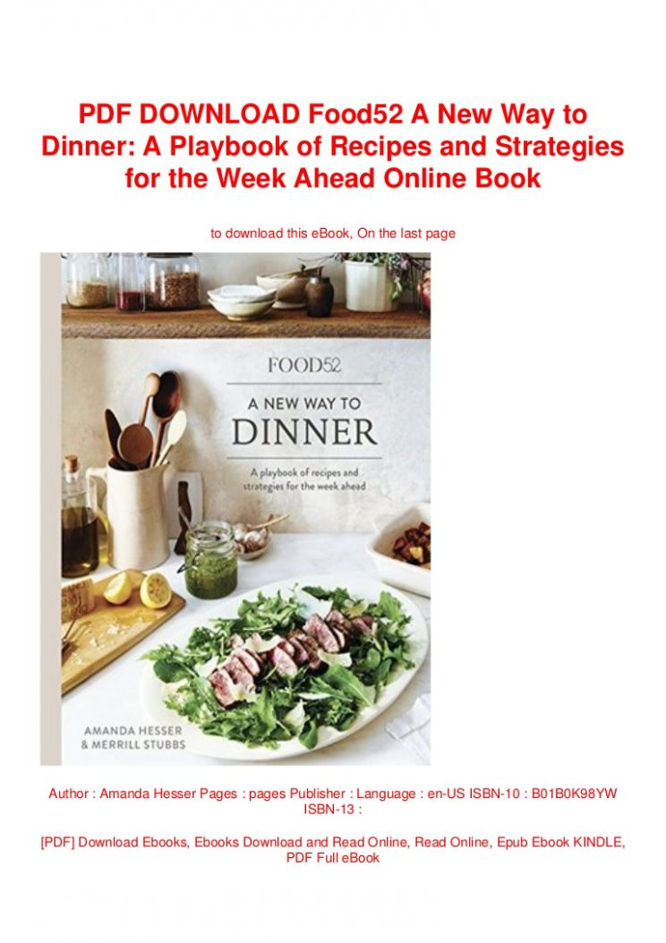 PDF DOWNLOAD Food10 A New Way to Dinner: A Playbook of Recipes and St… - Food Recipes Download