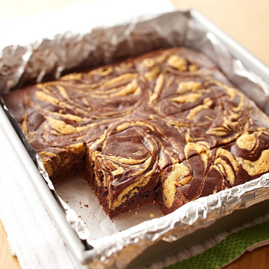 Peanut Butter Swirl Chocolate Brownies - Recipes Desserts For Diabetics