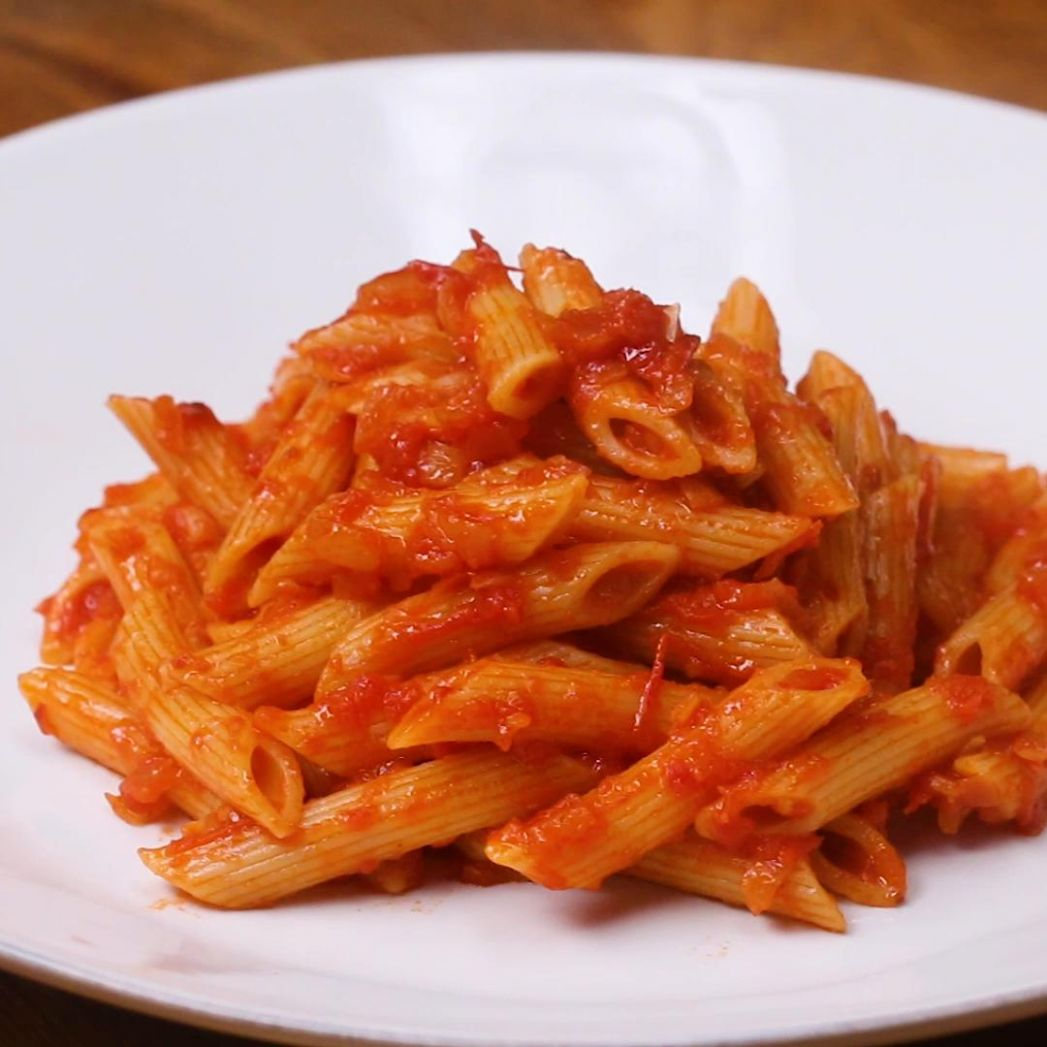 Penne With Tomato Sauce Pasta Recipe by Tasty - Pasta Recipes In Red Sauce