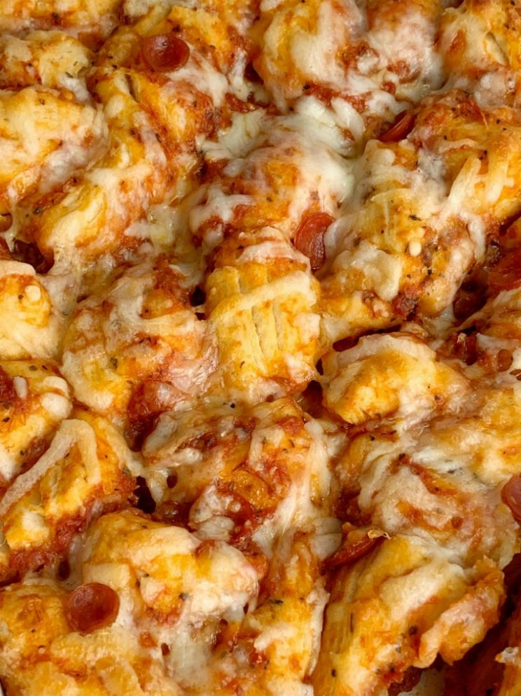Pepperoni Pizza Biscuit Casserole
