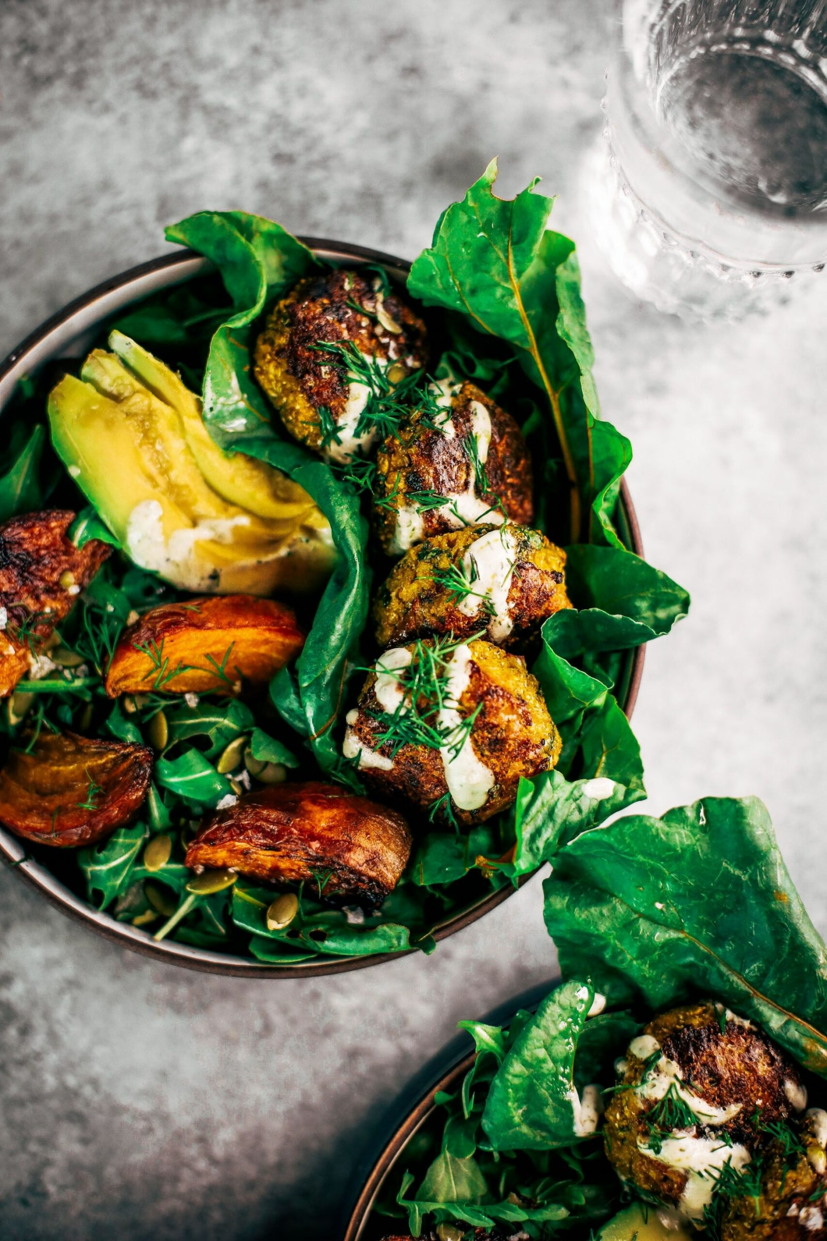 Perfect Whole10 Blender Cauliflower Falafel Tahini Bowl