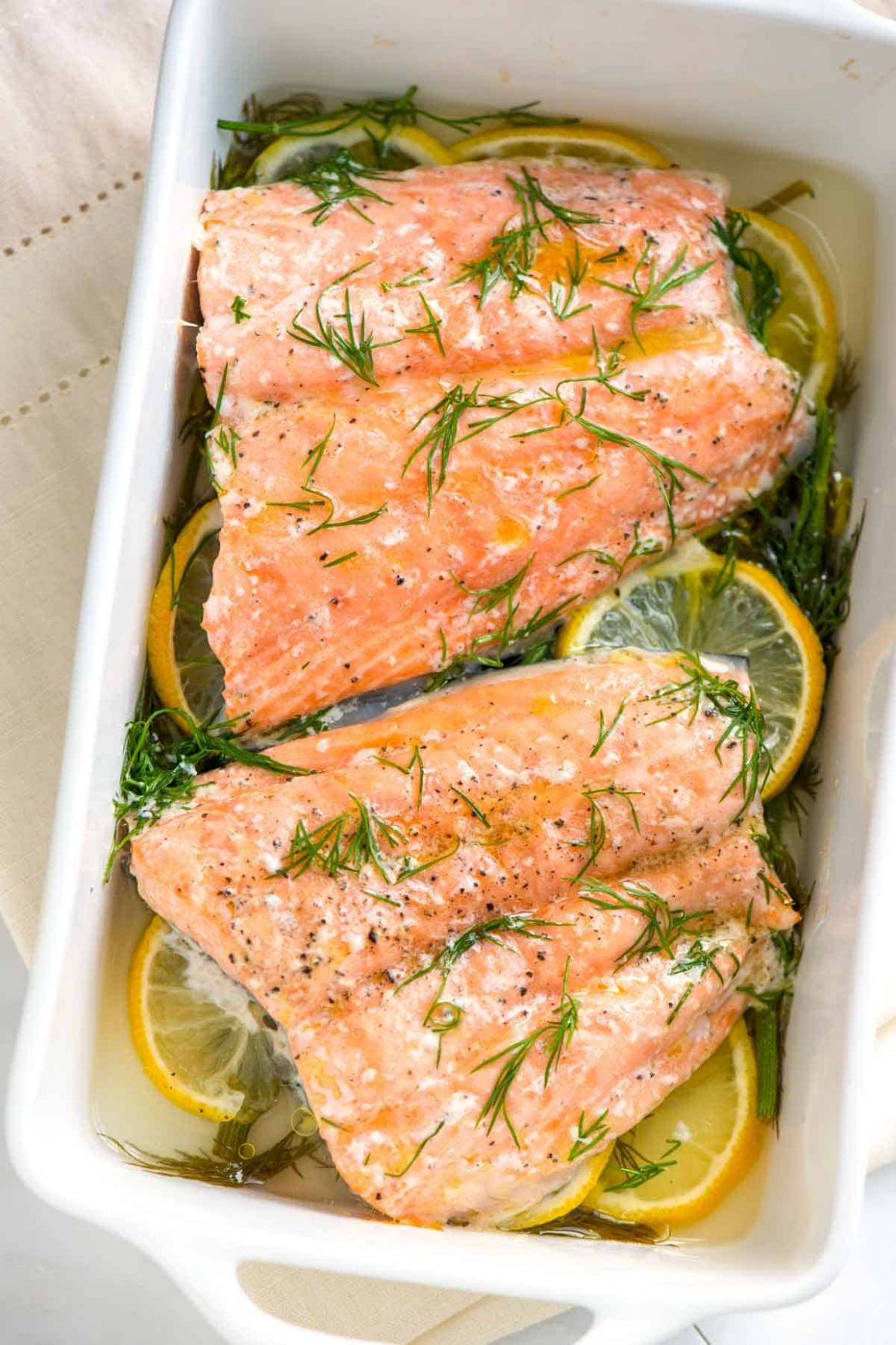 Perfectly Baked Salmon with Lemon and Dill - Recipe Fish Dill