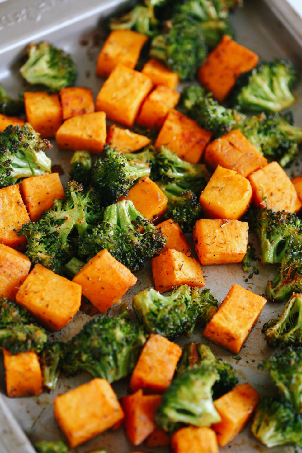 Perfectly Roasted Broccoli & Sweet Potatoes - Vegetable Recipes Healthy Side Dish
