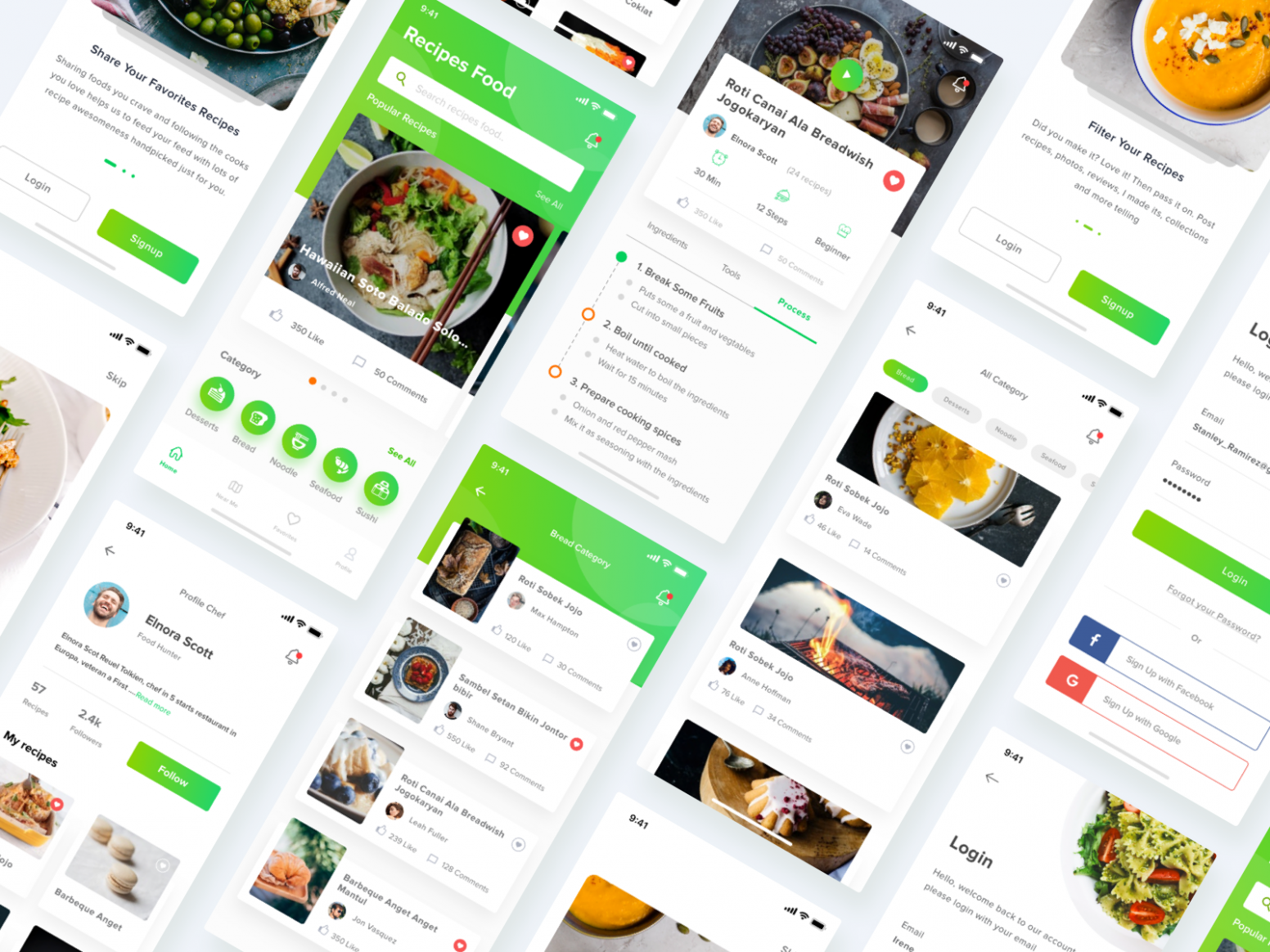 Pin on mobile ui - Simple Recipes App