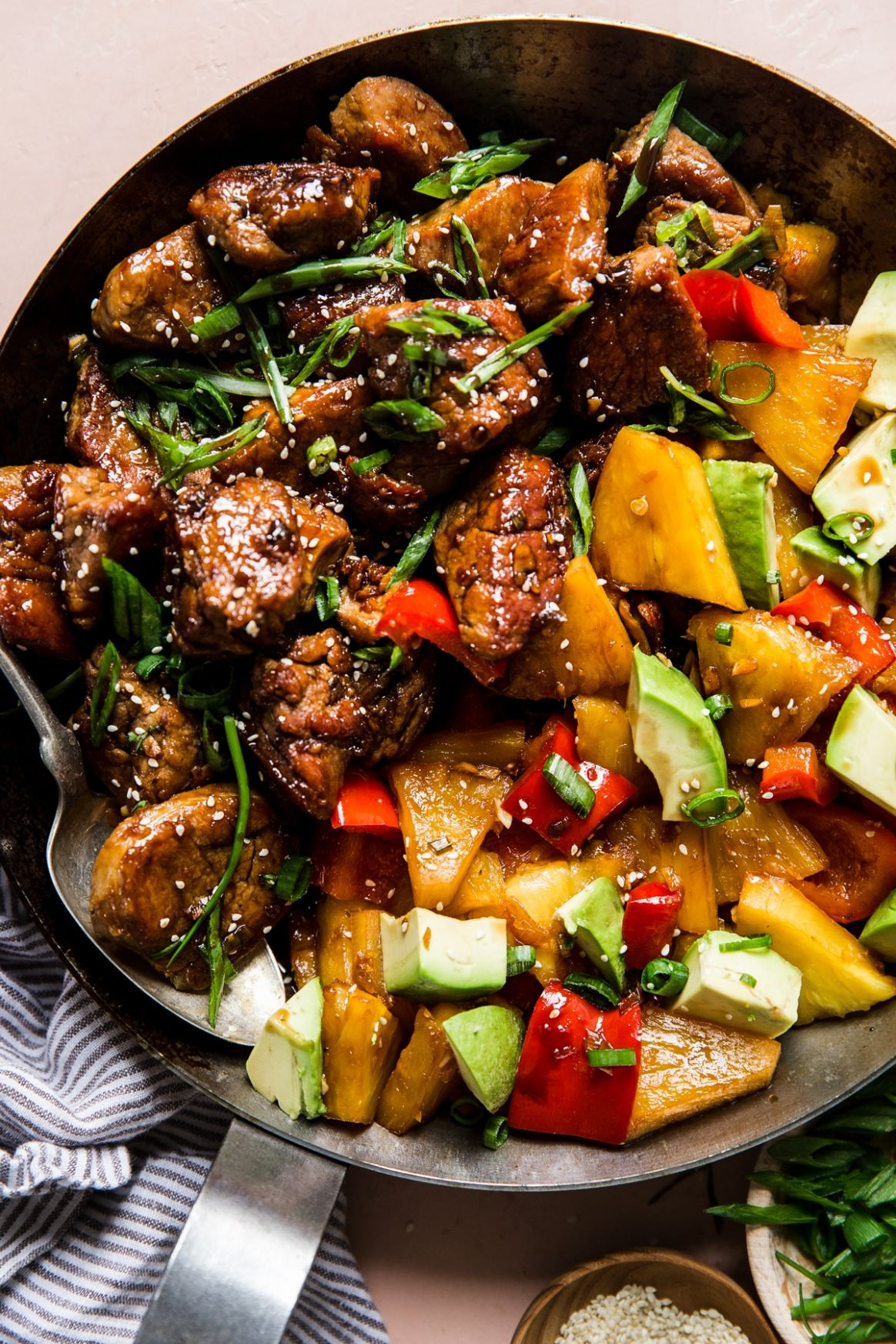 Pineapple Pork Stir-Fry with Peppers Recipe | The Modern Proper - Recipes Pork Fillet Stir Fry