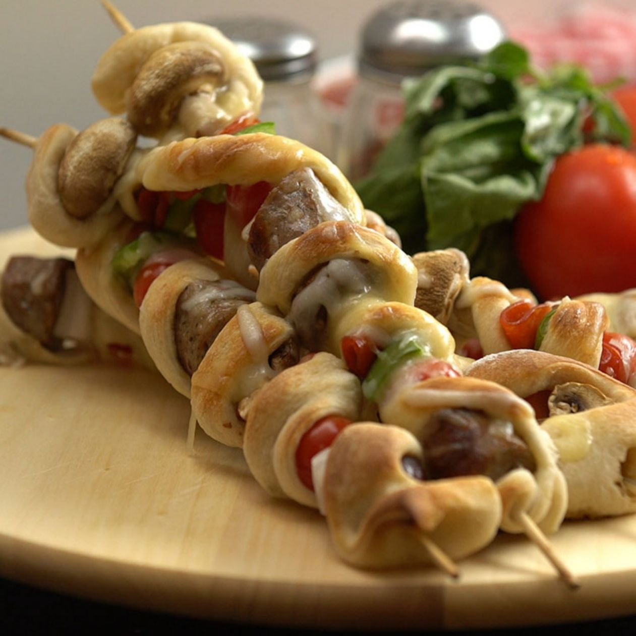 Pizza Kebabs - Recipes Pizza Skewers