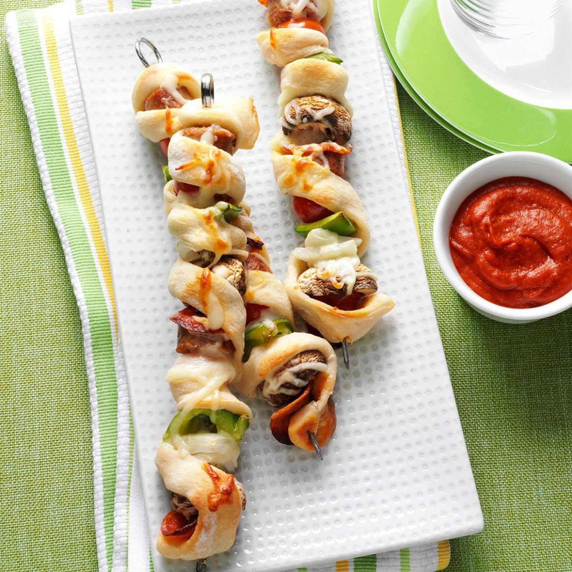 Pizza on a Stick - Recipes Pizza Skewers