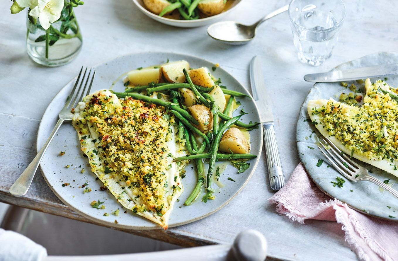 Plaice with lemon, garlic and parsley crust - Recipes Cooking Plaice Fillets