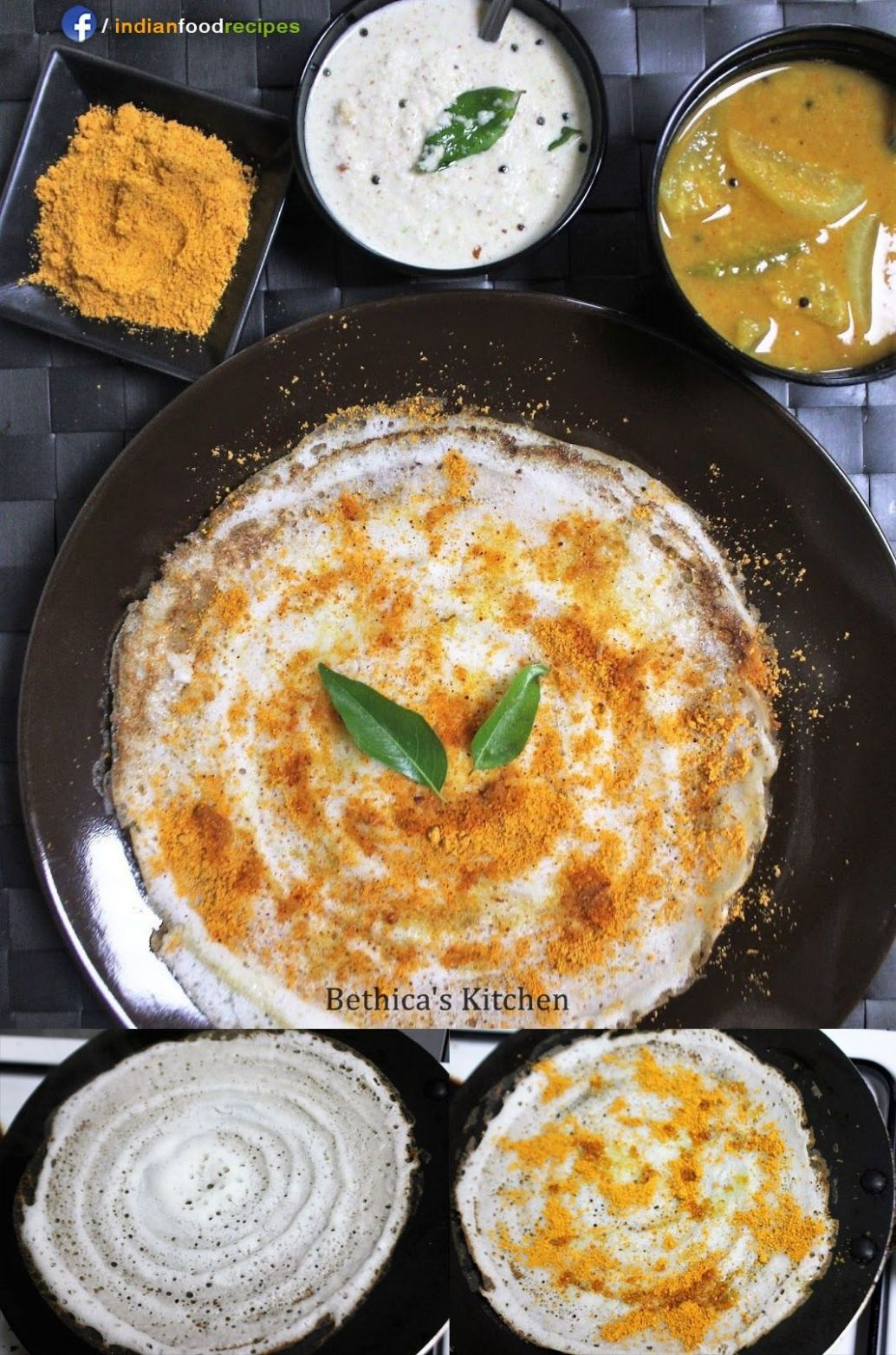 Podi Dosa - South Indian Breakfast recipe step by step pictures ..